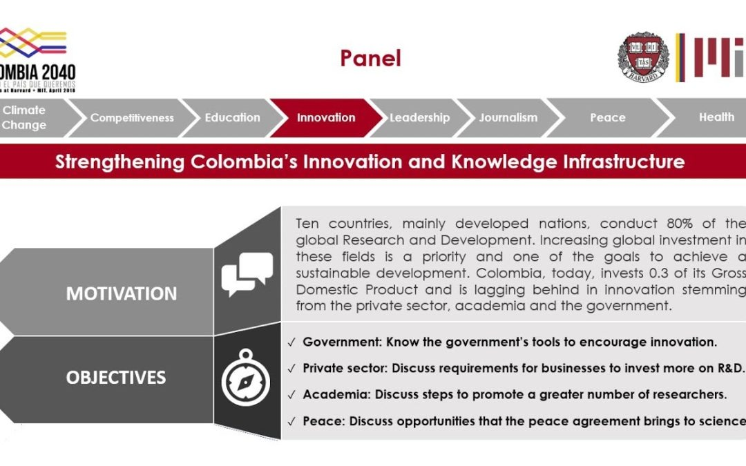 "Panel at Harvard & MIT: ""Strengthening Colombia's Innovation and Knowledge Infrastructure"""