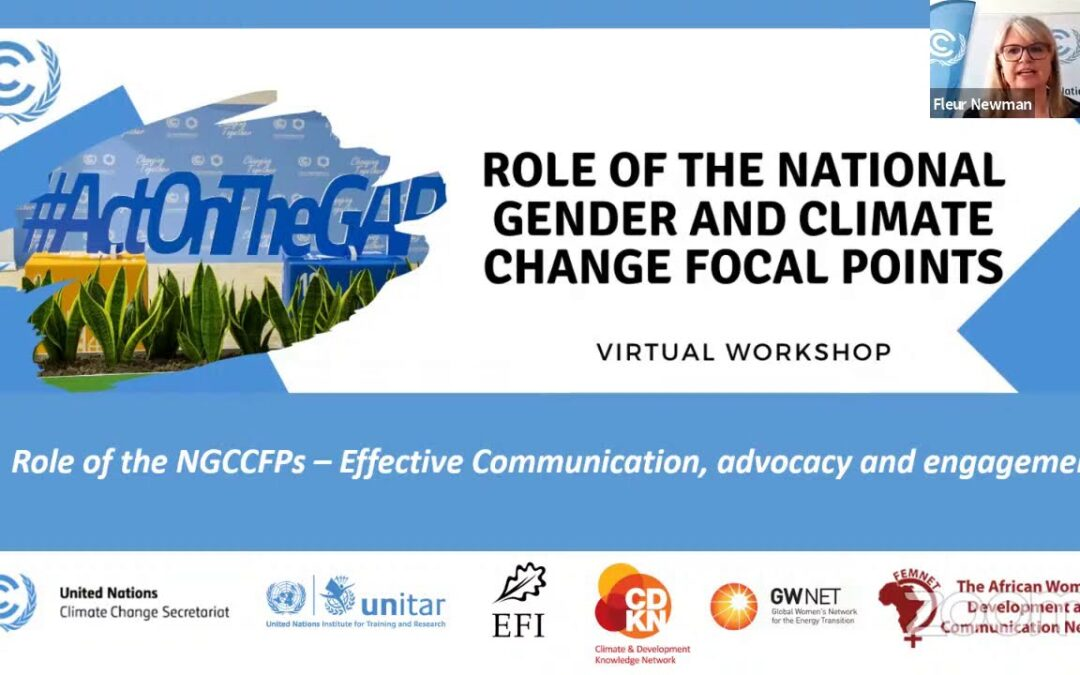 Role of the NGCCFPs – Effective Communication, Advocacy and Engagement